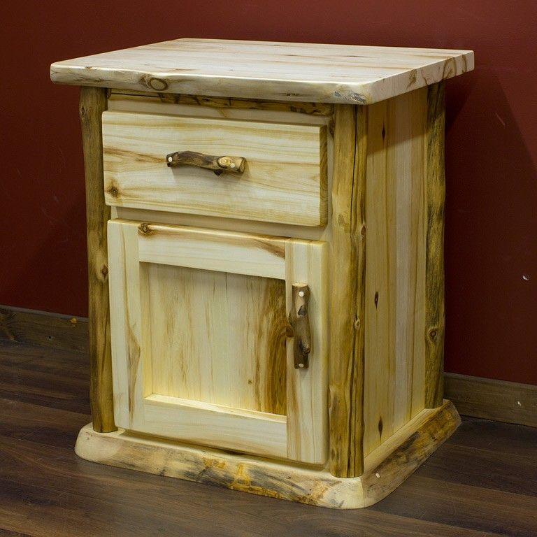 690 Aspen Enclosed Nightstand Aspen Furniture Rustic Furniture Wood