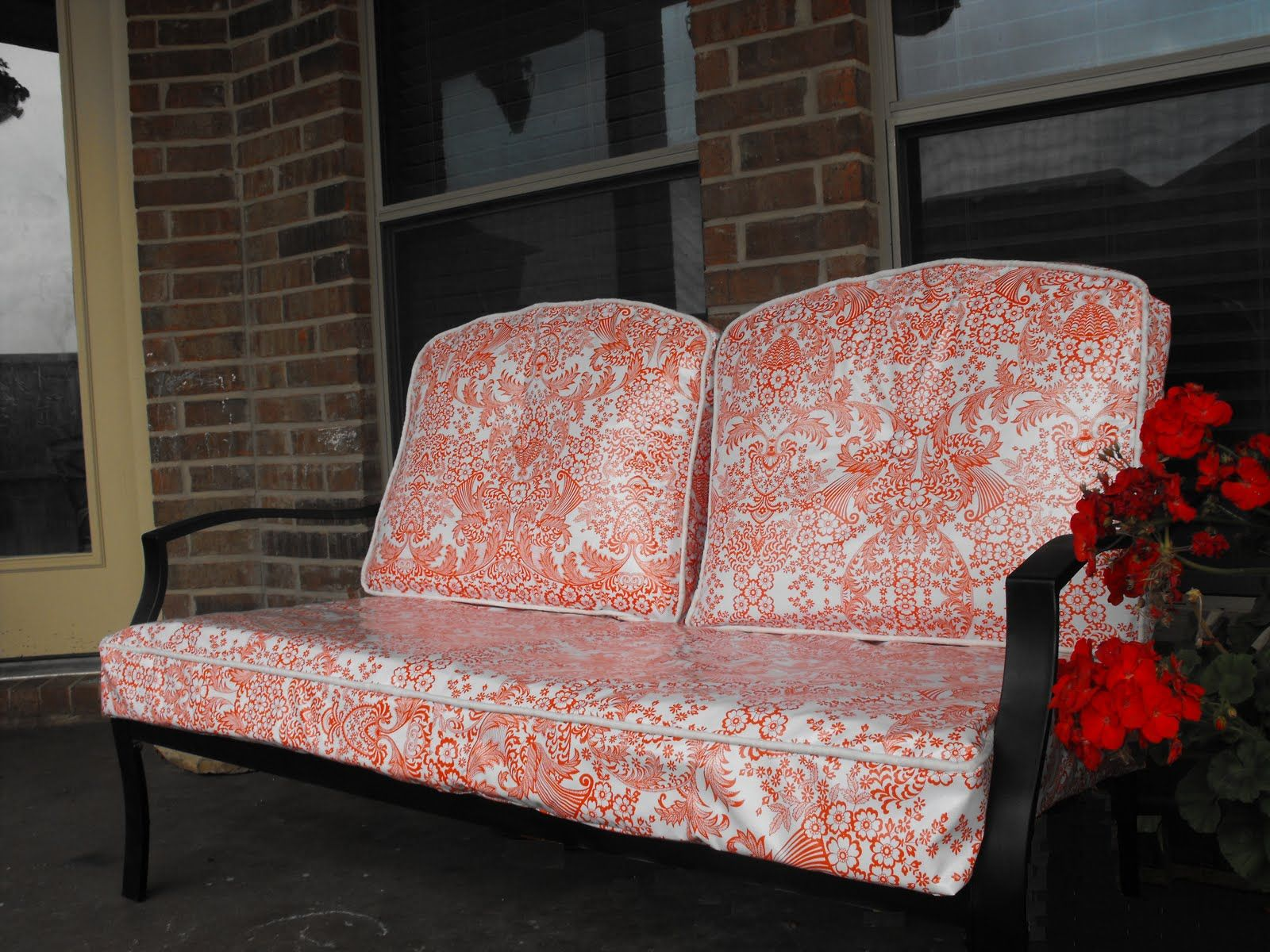 Recovered Patio Cushions In Oilcloth