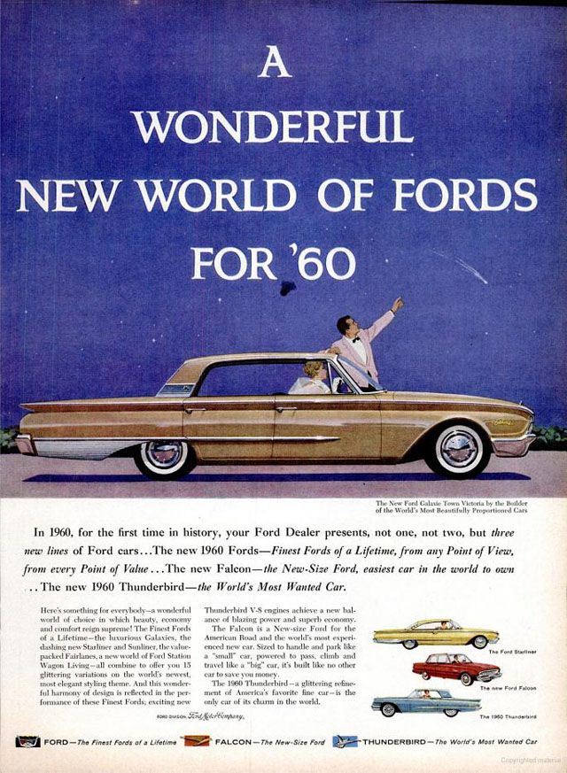 Advertisements For The 1960 Ford New Car Lineup Ford News