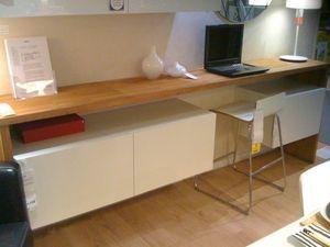 bureau haut avec meubles de cuisine ikea