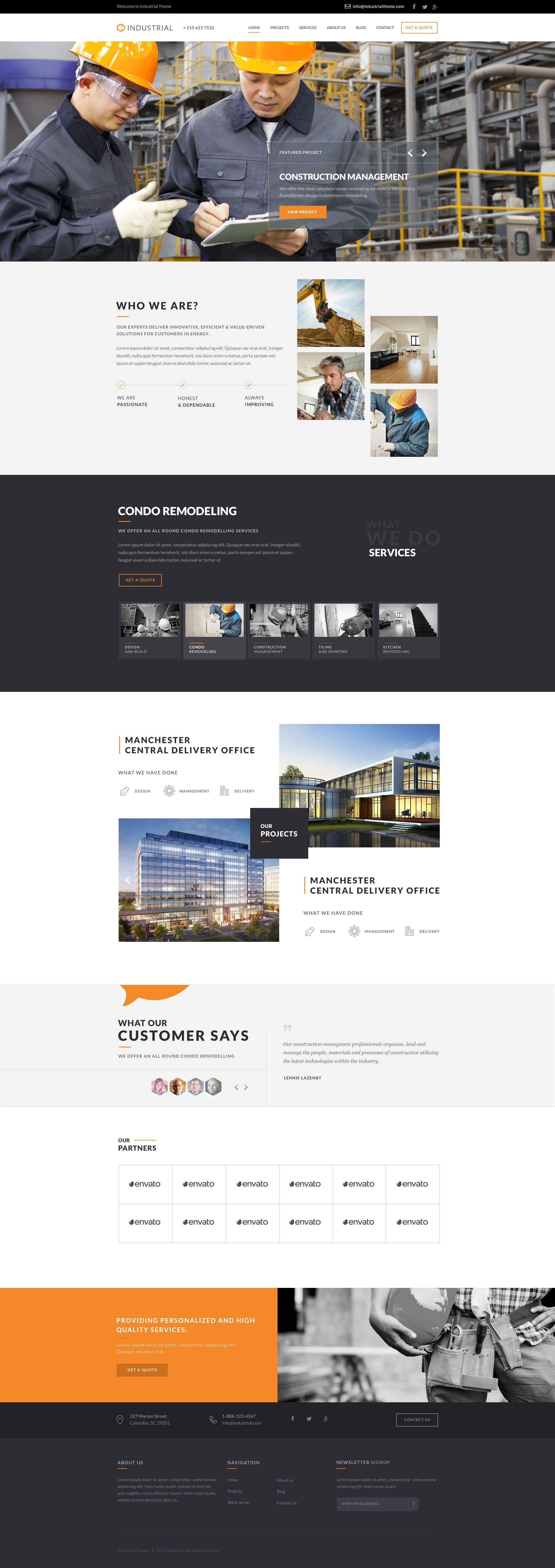 Industrial Architects Engineers Psd Simple Web Design Construction Website Web Layout Design