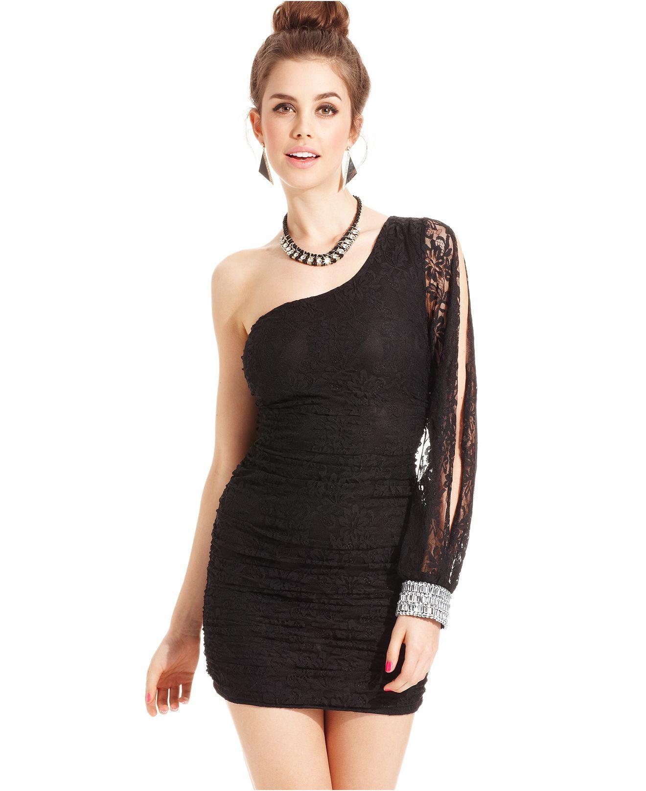 Trixxi One Shoulder Dress