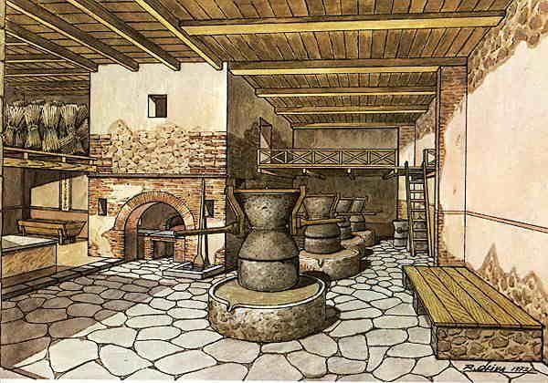 """Imperio Romano en Twitter: """"Horno de pan y molinos de trigo hallados en una panadería de Pompeya, Italia. https://t.co/iqfQh4Hfnh"""""""