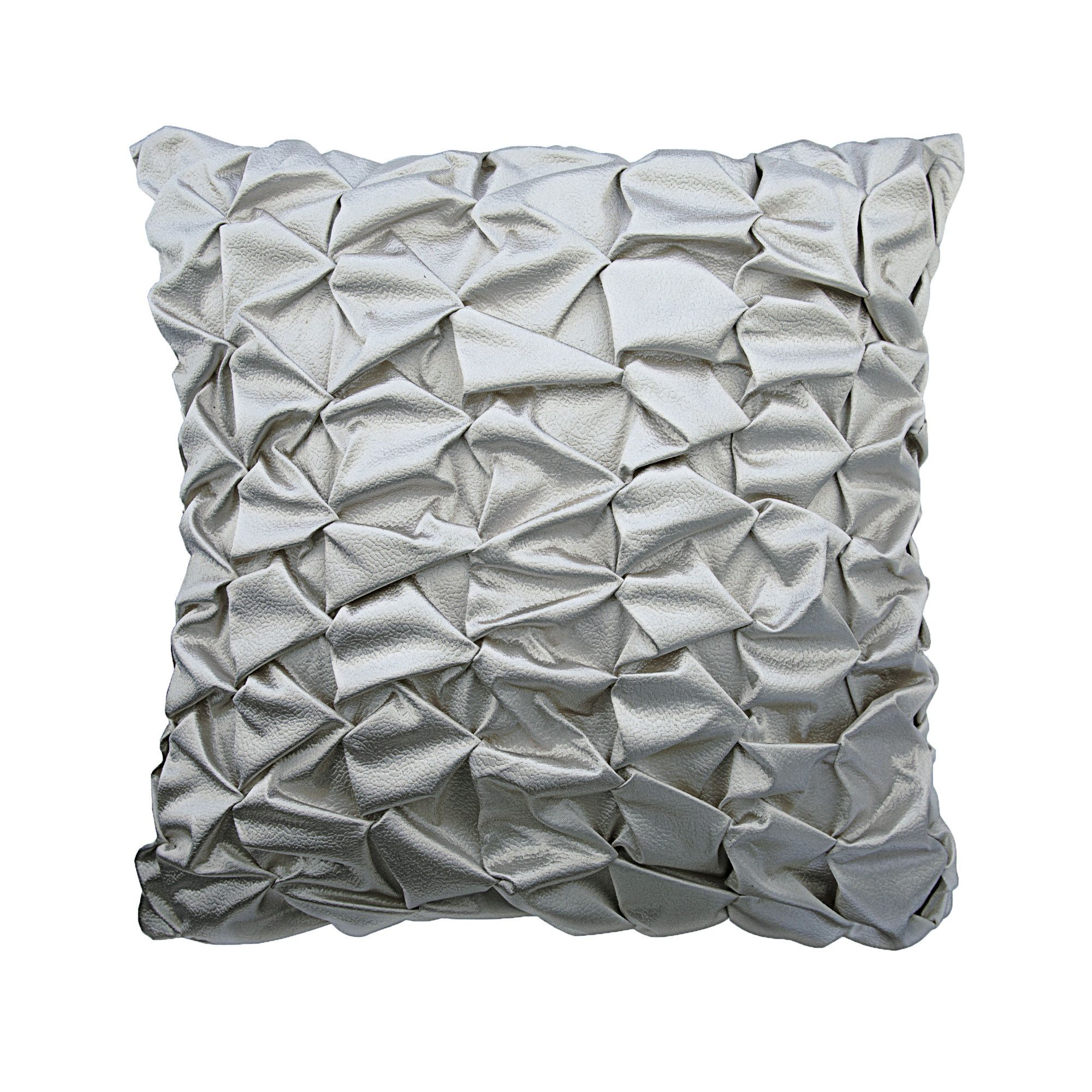 silver decorative throw pillow covers