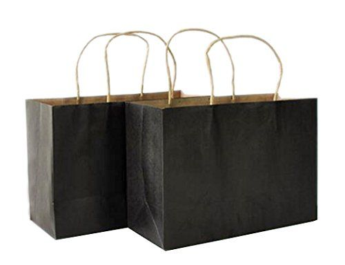 Craft Paper Grocery Shopping Gift Bags 100 Pcs Black 16x6x12 Inch Heavyweight