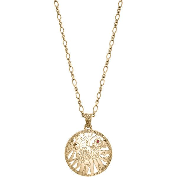 John Hardy Batu Classic Chain 18k Limited Edition Pendant Necklace (7,545 CAD) ❤ liked on Polyvore featuring jewelry, necklaces, chain necklaces, john hardy necklace, 18 karat gold jewelry, john hardy and chains jewelry