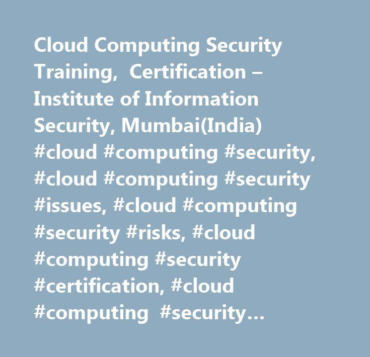 Cloud Computing Security Training Certification Institute Of