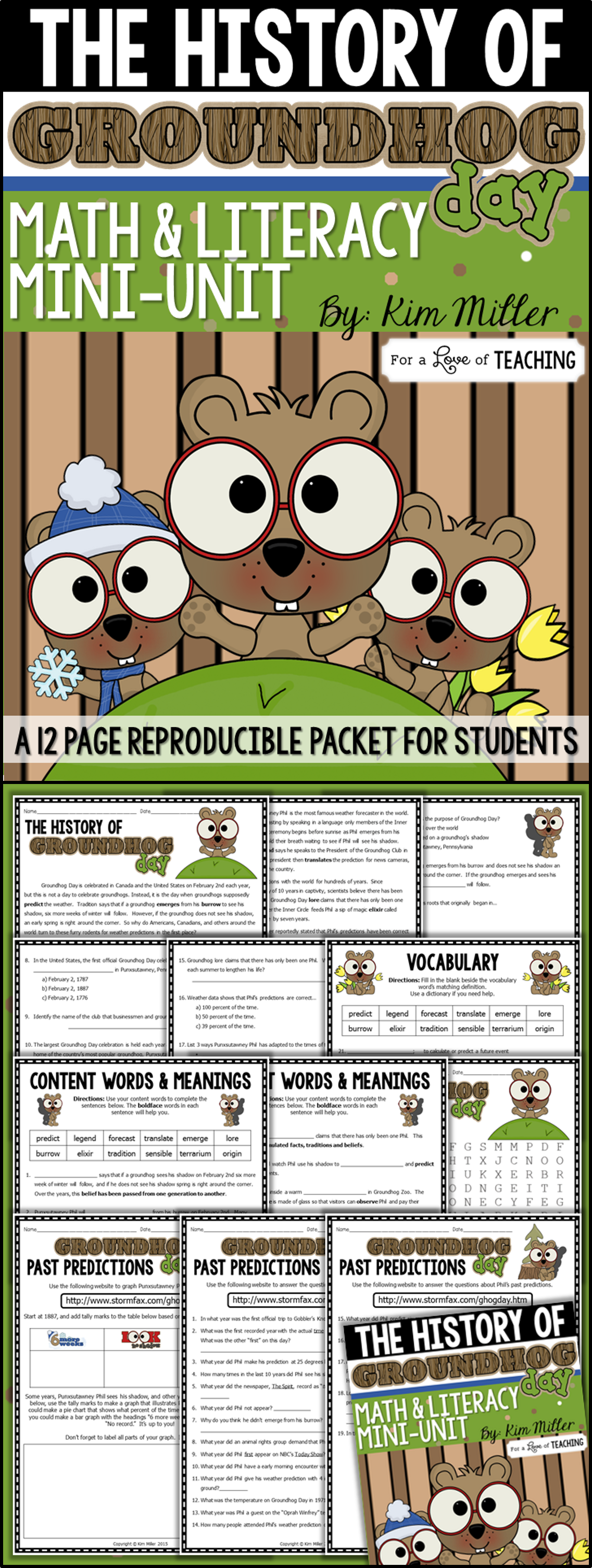 Groundhog Day Activities No Prep Reading And Math With