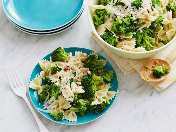 Ready to eat in just over 20 minutes, Ina's Weeknight Pasta with Broccoli is tossed in a simple garlic-lemon sauce.  #RecipeOfTheDay