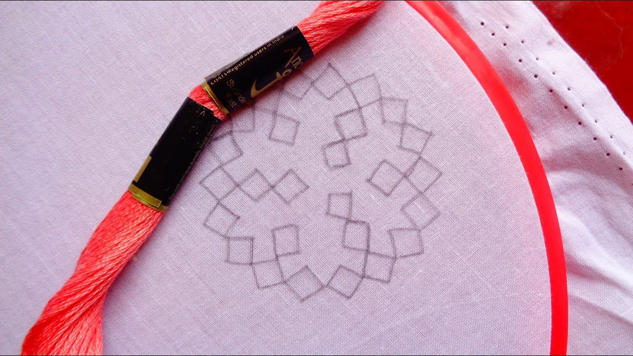 #175# A Circle Design with Sindhi stitch // Gujrat