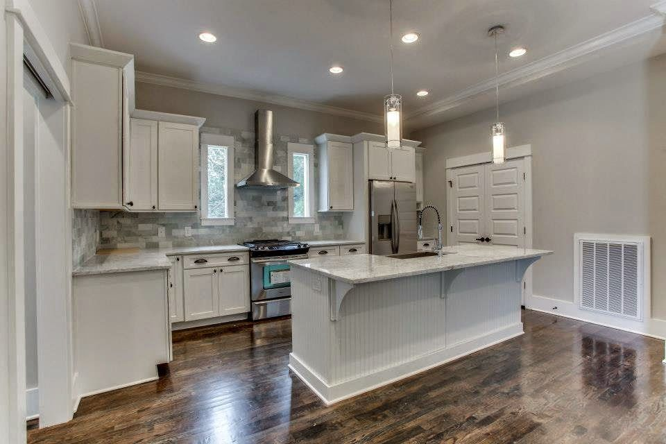 Painted Silk Kitchen Cabinets With Grey Countertops