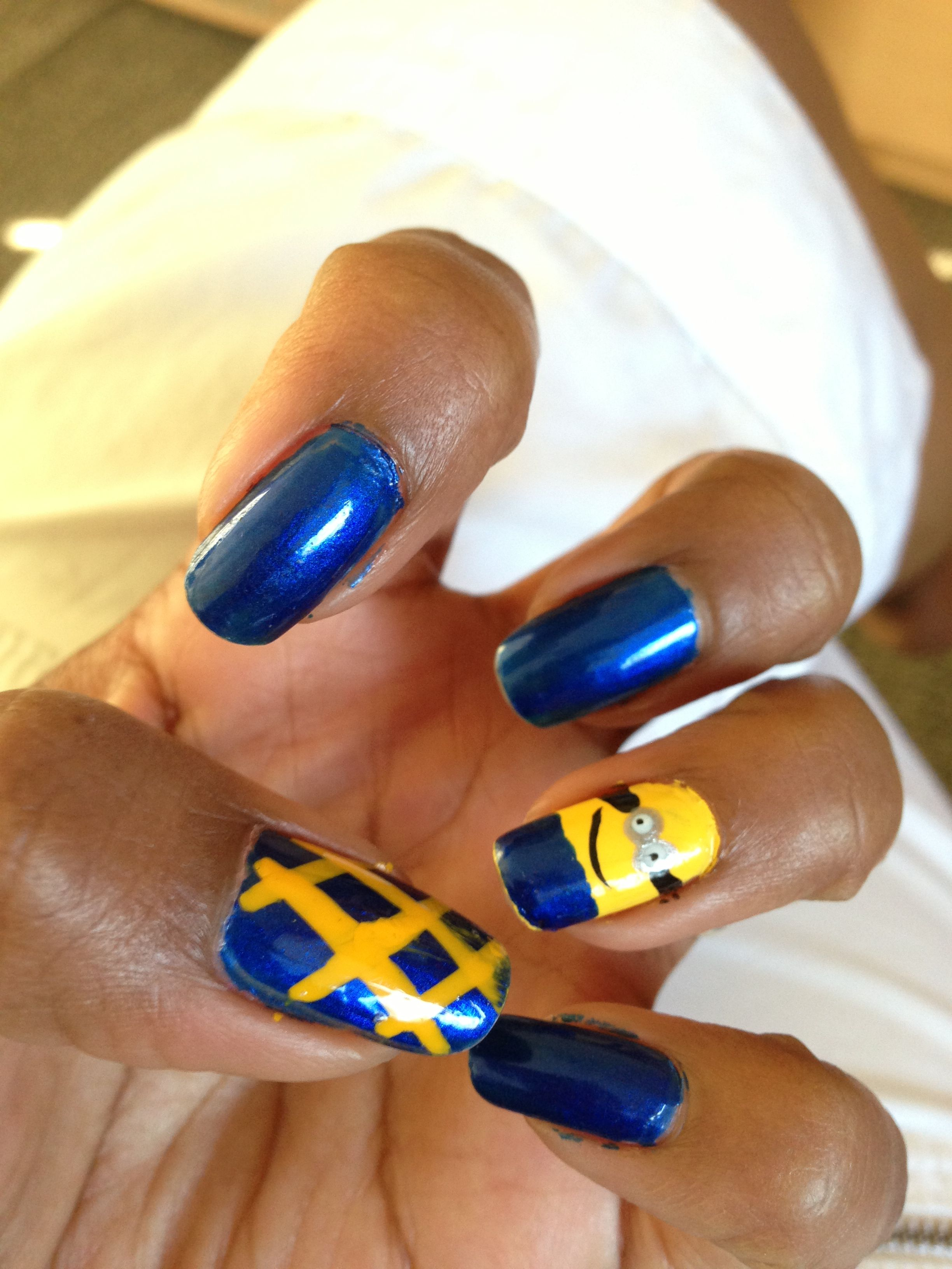 Despicable me nails | Mine creations | Pinterest