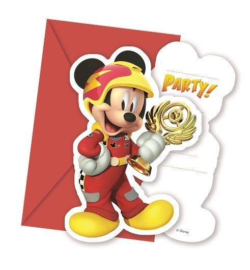 Invitaciones De Cumpleaños De Mickey Y Los Súper Pilotos