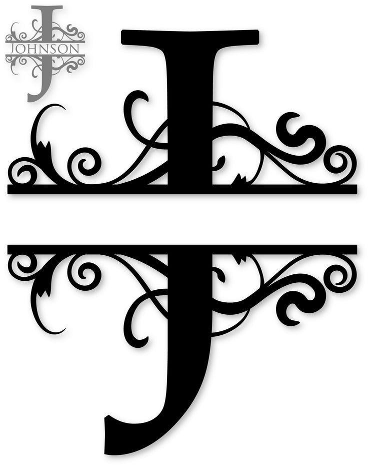 Image result for Free Monogram Fonts Split Plates