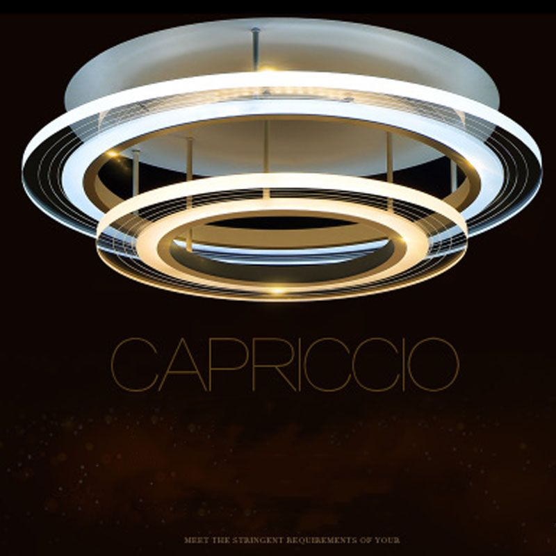 T circular 2 ring acrylic transparent ceiling light simple lamp for t circular 2 ring acrylic transparent ceiling light simple lamp for home living room bedroom restaurant mozeypictures Image collections