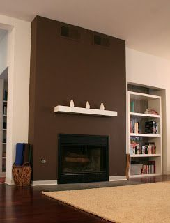 dark brown painted fireplace dark brown paint can make a very rh pinterest com dark brown fireplace decorating ideas dark brown fireplace tv stand