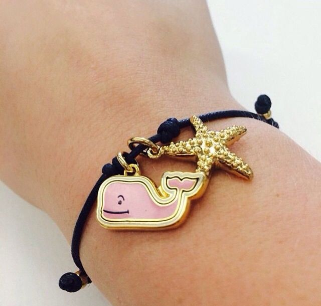 Summery Vineyard Vines And Starfish Bracelet