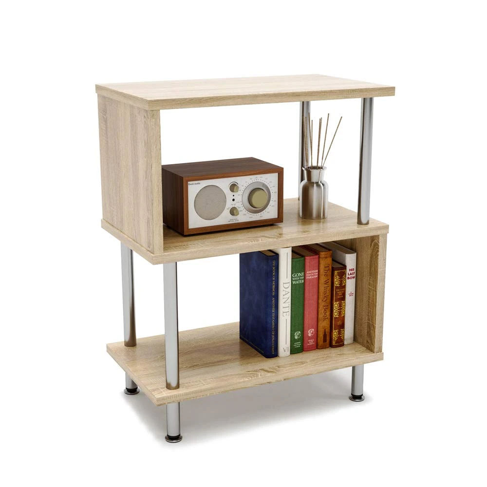 Side Table 3 Tier S Shaped Small Nightstand In 2020 Small Nightstand Shelves In Bedroom Dorm Room Furniture