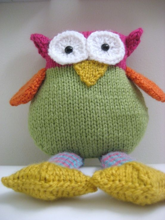Knit Owl Pattern | Knitted owl, Knitting projects, Knitting