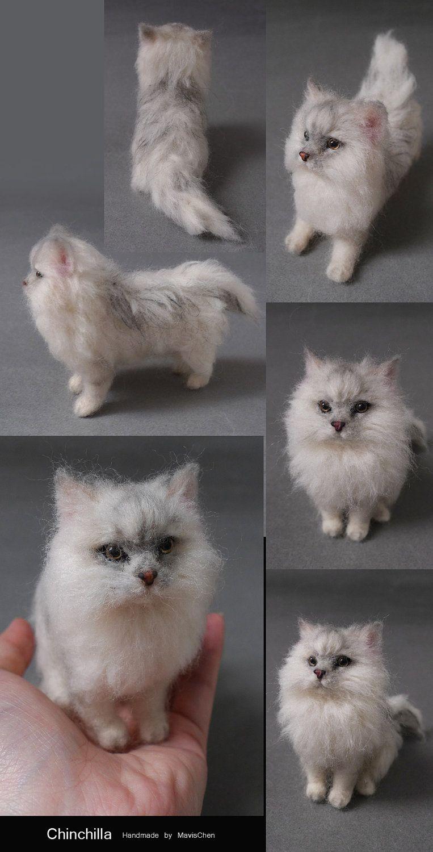 Needle felted cat astonishing realism; I wonder what