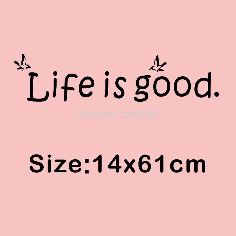 Life is good vinyl wall decal flying birds lettering art sticker life is good vinyl wall decal flying birds lettering art sticker for home decor in amipublicfo Gallery
