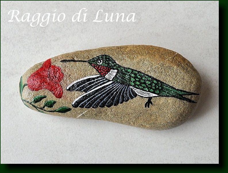 Raggio di Luna Painted Rocks   Painted rocks, Birds ...