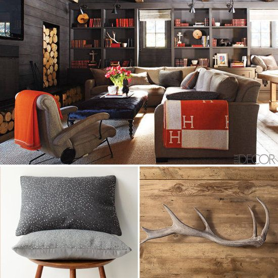 Cabin Decor Chic and Rustic - Books a wood fire and comfy seating. What more could one ask? & Get the Look: A Chic Cabin That Reinvents Our Idea of Rustic | camp ...
