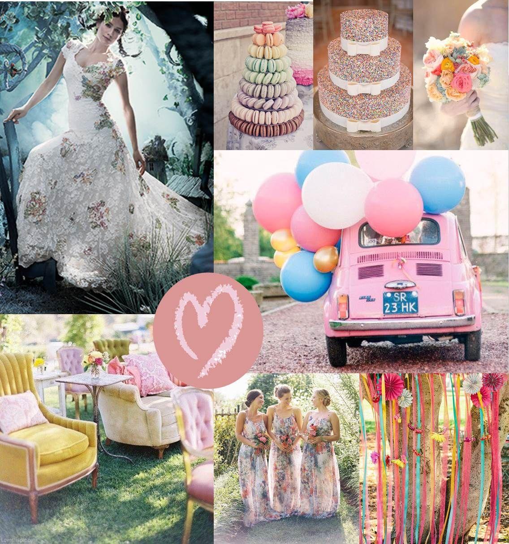 White Mischief Bridals Pastel Rainbow Wedding Theme With Multi