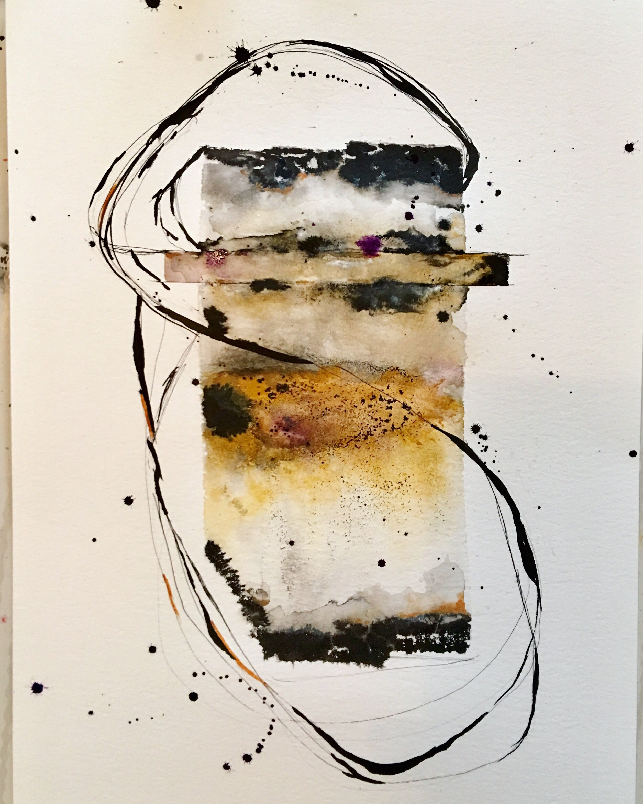 Watercolor Ink Mixedmedia Painting Abstract Abstractart