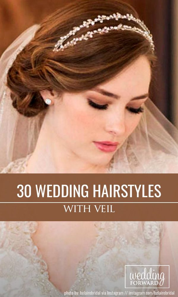 42 Dreamy Wedding Hairstyles With Veil Wedding Hairstyles With