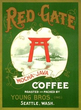 Vintage coffee label