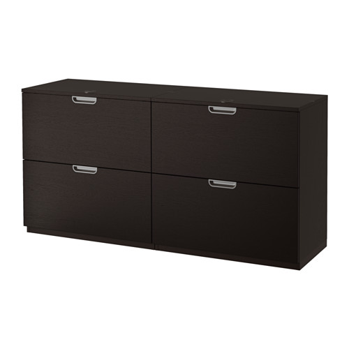 Galant Storage Combination With Filing Black Brown Ikea