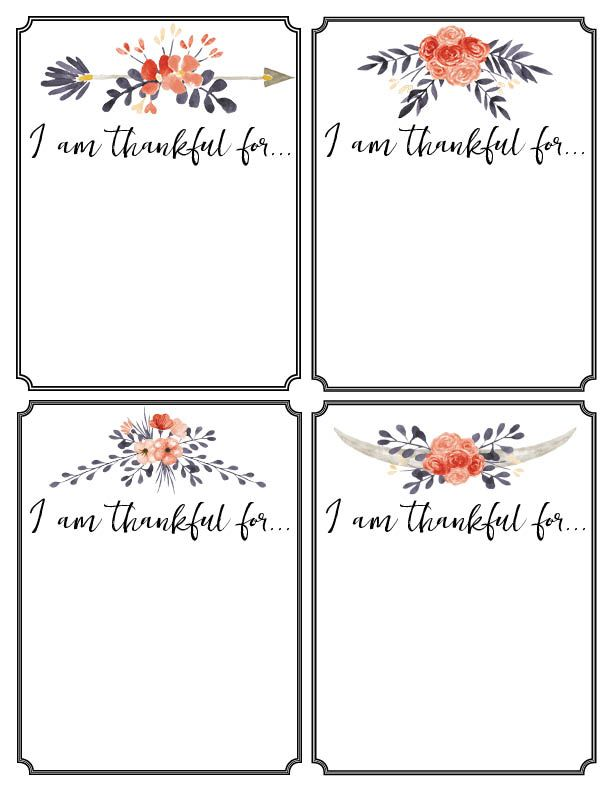 Thankful Printable Cards Thanksgiving Tradition Thankful Printable Thanksgiving Cards Printable Printable Cards