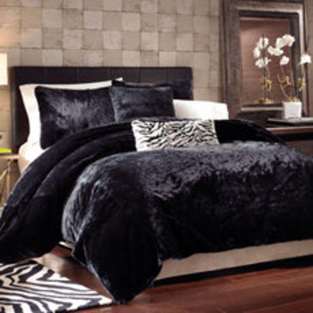 Black Panther Faux Fur Duvet Cover Set Duvet Cover Sets Queen