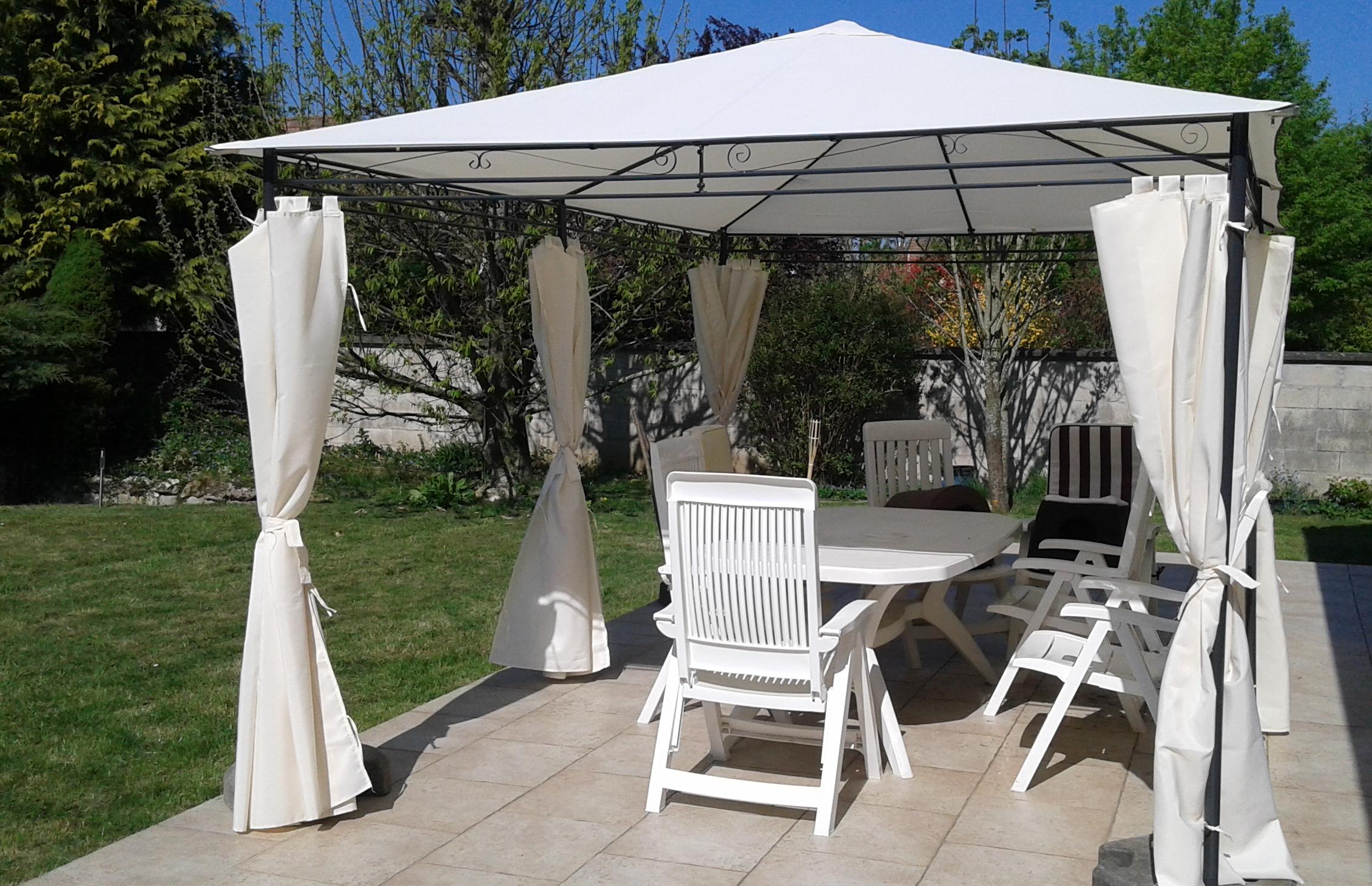 Nicae Tonnelle 3x4m Alice S Garden Protege Efficacement Du Soleil Solide Et Tres Stable Style Elegant Jardin Terr En 2020 Amenagement Exterieur Jardins Pergola