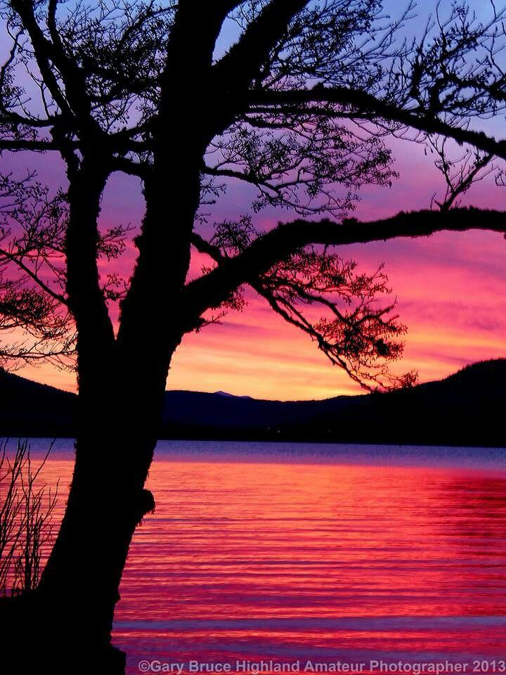 Sunset on Loch Ness