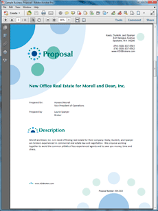 The Commercial Real Estate Broker Proposal Is One Of Many Sample Business  Proposals Included With Proposal Pack Proposal Templates And Proposal  Software ...  Commercial Proposal Format