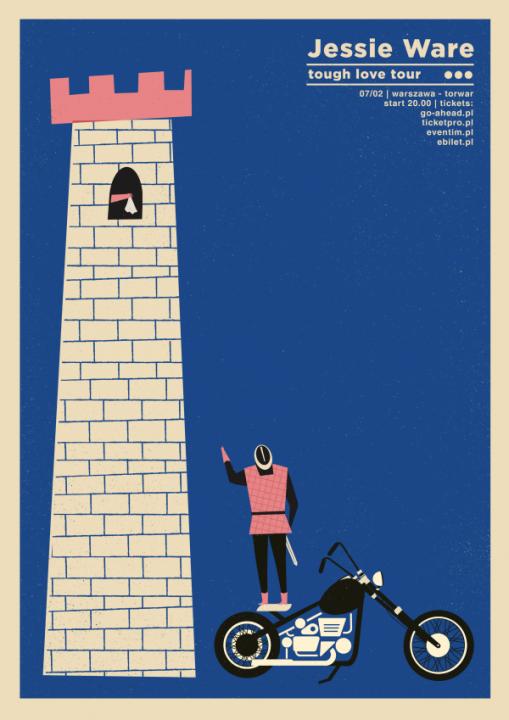 jesse ware tough love tour by talkseek gig posters pinterest