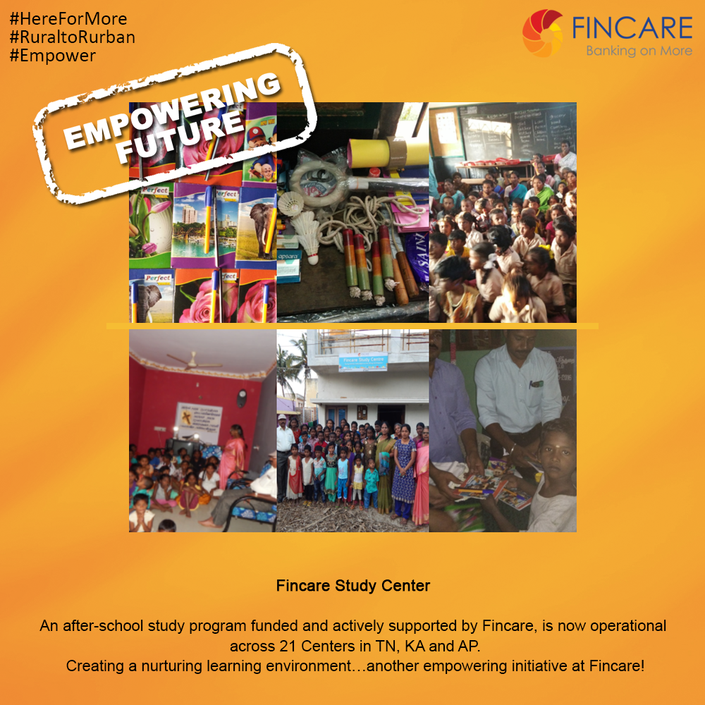 Fincare Study Center An After School Study Program Funded And