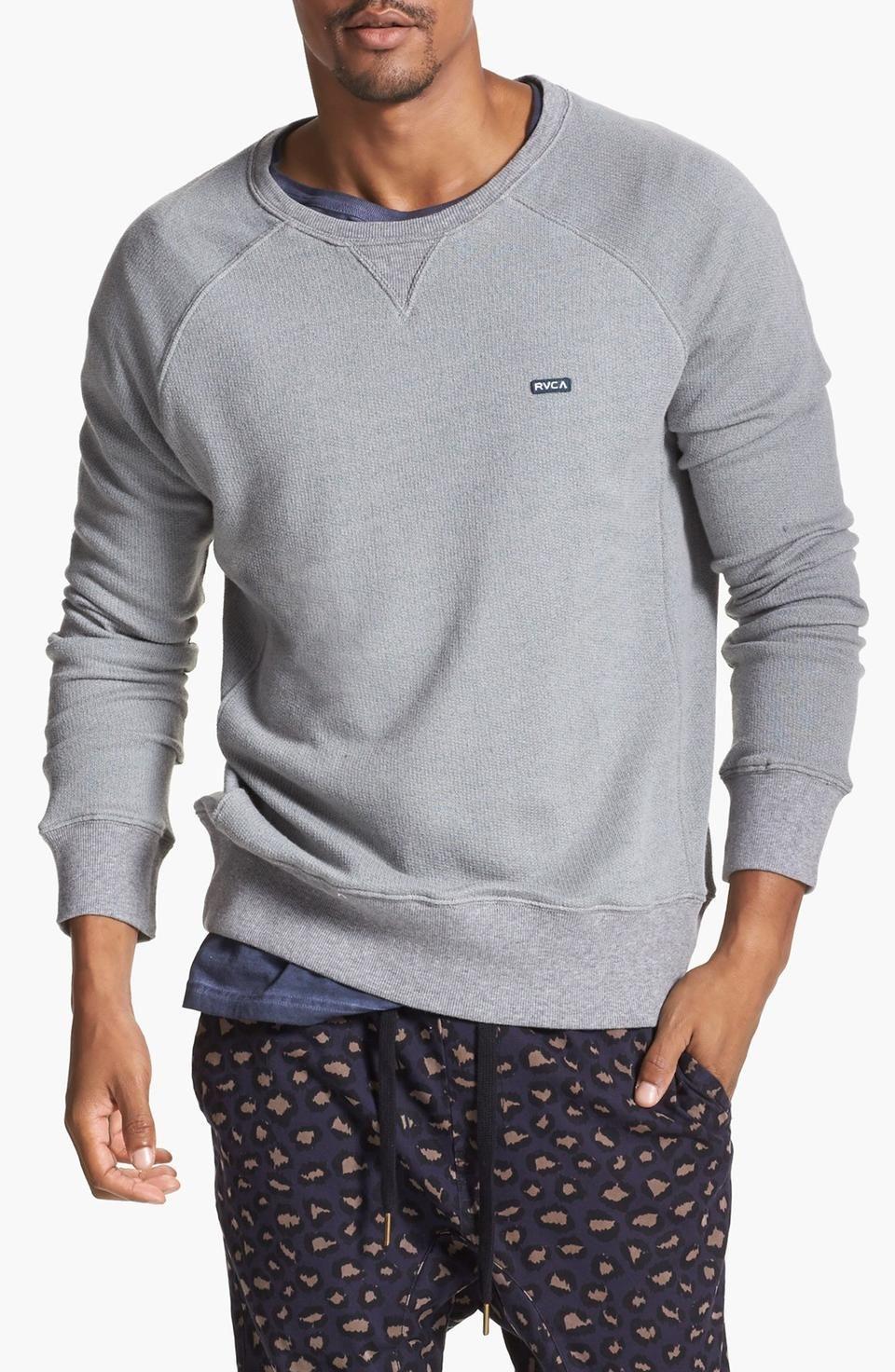 Rvca Captured Crewneck Sweatshirt For 50 Wantering Grey Sweatshirt Mens Sick Clothes Simple Sweatshirt [ 1472 x 960 Pixel ]