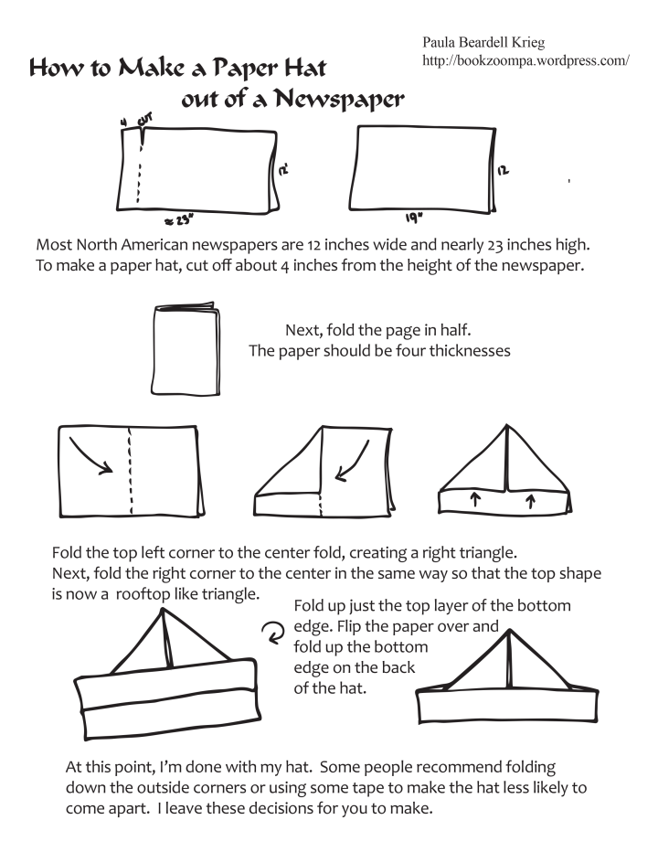 How to Make a Paper Hat out of Newspaper by Paula Beardell Krieg ...