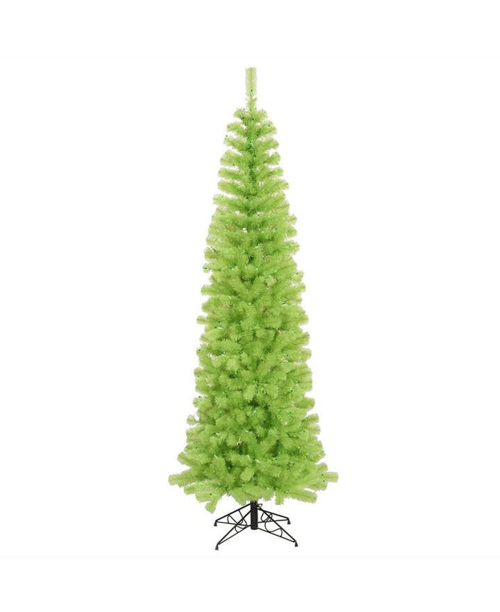 Vickerman 55 ft Lime Green Pencil Artificial Christmas Tree With
