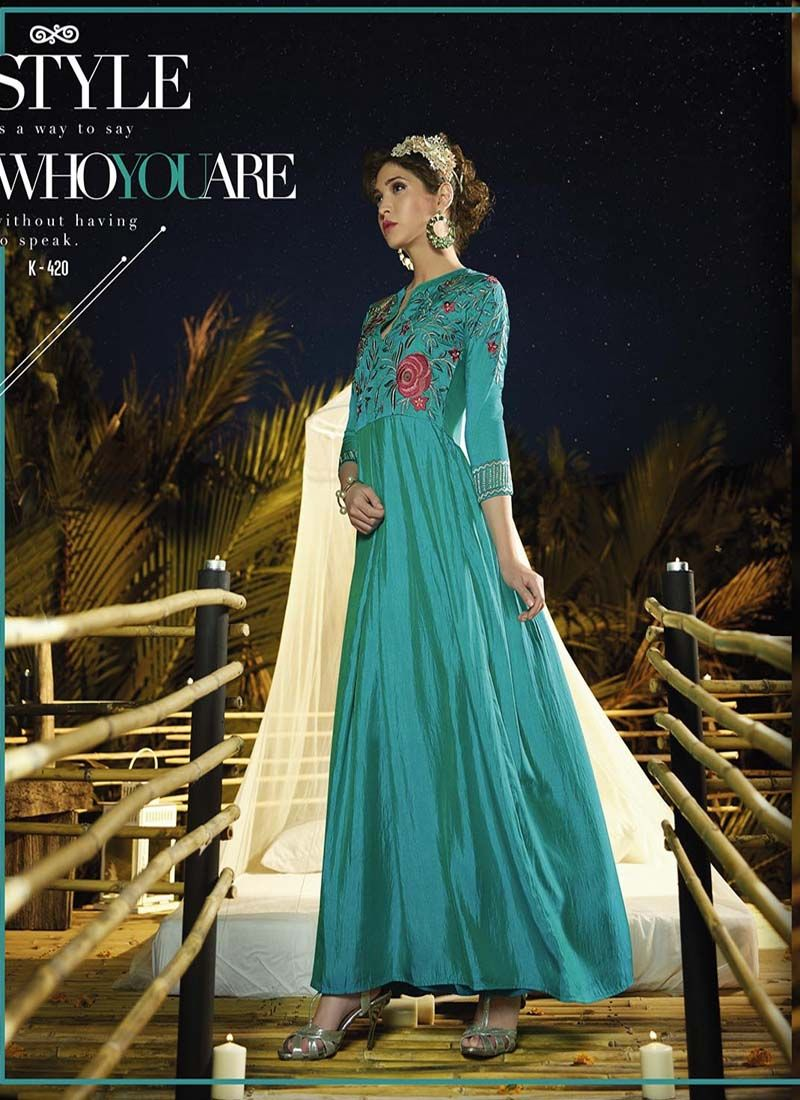 Partywear Exclusive Designer Readymade Gown 7 Days Easy Return, Buy ...