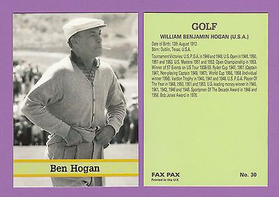 Fax pax -  golf  card  -  ben  #hogan  of  the  #u.s.a.  -  1993,  View more on the LINK: 	http://www.zeppy.io/product/gb/2/152090324347/