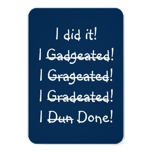 I did it i done funny humorous hilarious fun navy blue shop i did it funny graduation party invitation card created by ismiledyou filmwisefo Image collections