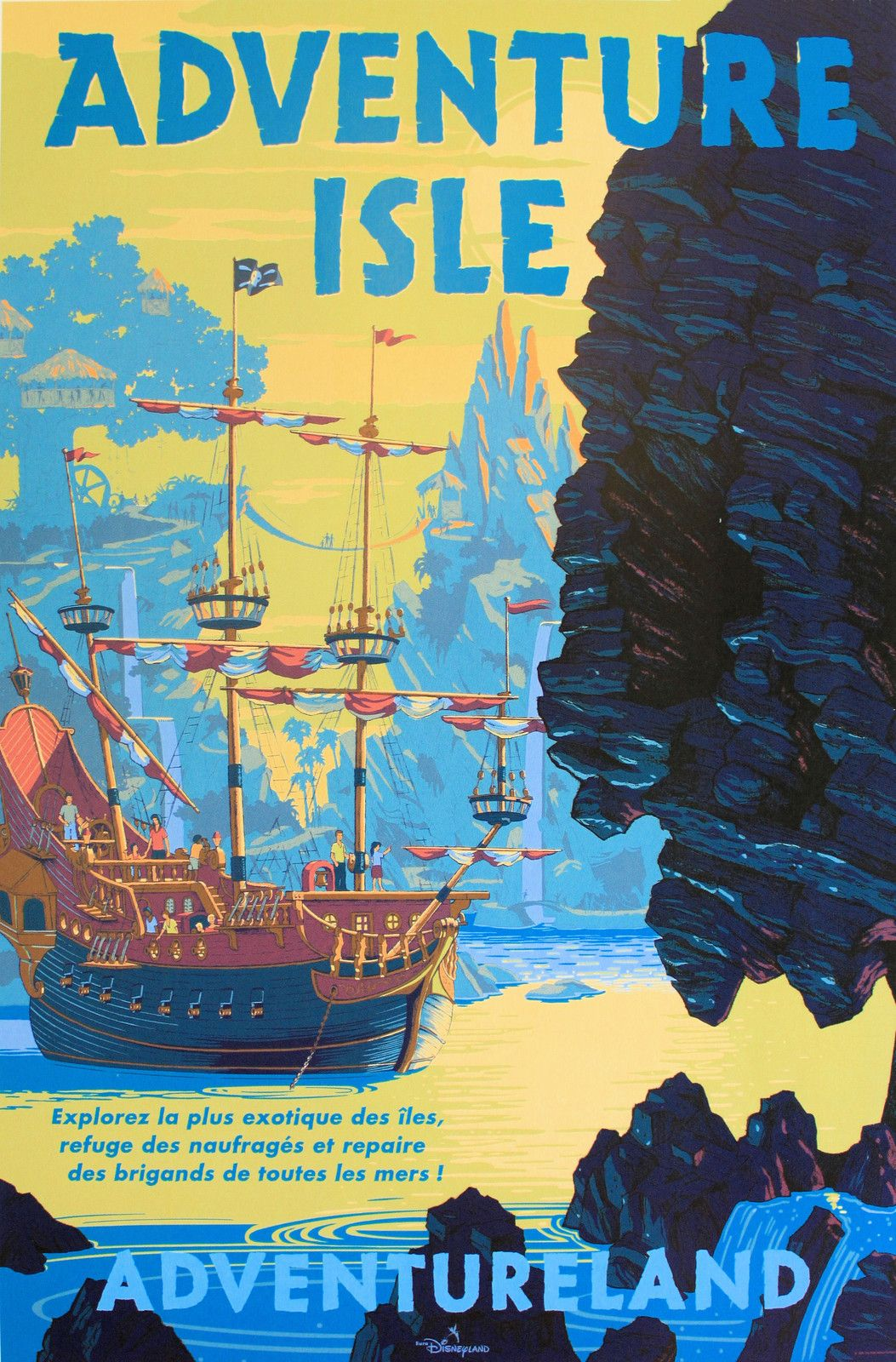 """8.5/"""" x 11/"""" Poster -Free Poster for 2or More Vintage Disney Adventure Isle"""