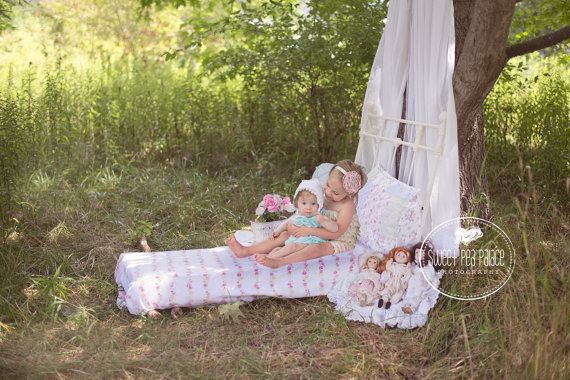 Baby Toddler Child Photography Prop Digital Backdrop for Photographers -Maddy's Shabby Chic Bed DIGITAL Backdrop #backdropsforphotographs