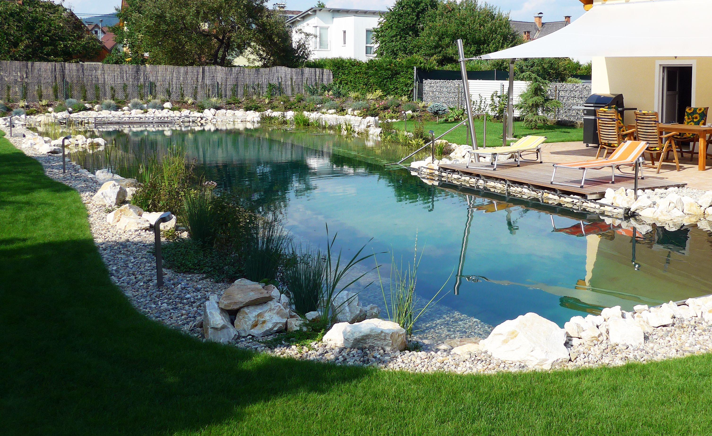 Schwimmteich Mit Einer Lange Von 25 M Wettkampflange Schwimmteich Gartengestaltung Teich