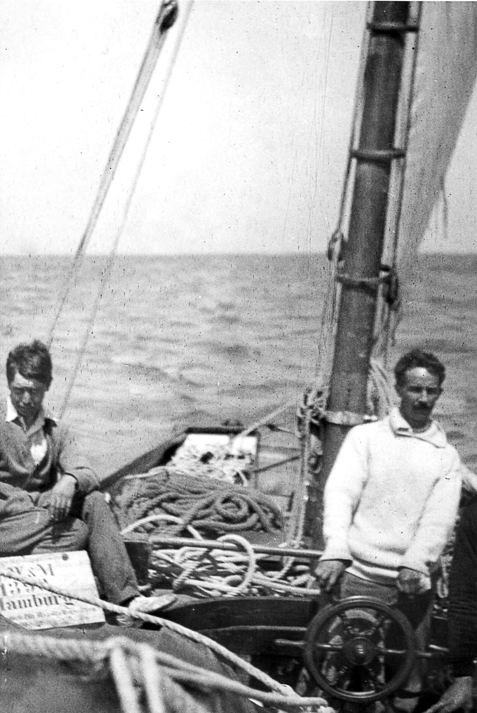 Gordan Shepard (left) And Erskine Childers (right) On Board The Asgard Howth