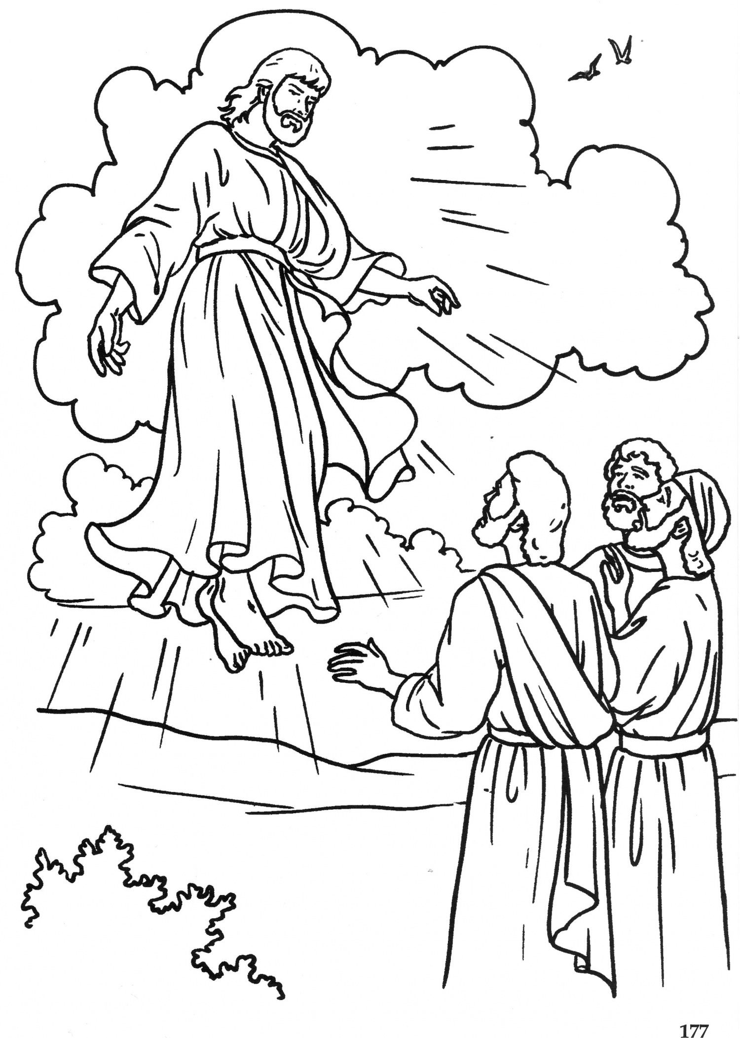 The Ascension Catholic Coloring Page Easter Sunday
